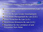 environment related regulations examples