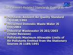 environment related standards examples