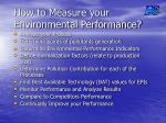 how to measure your environmental performance