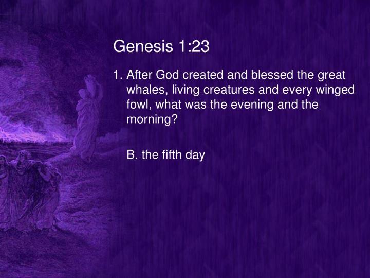 Genesis 1:23