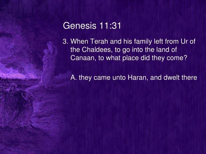 Genesis 11:31