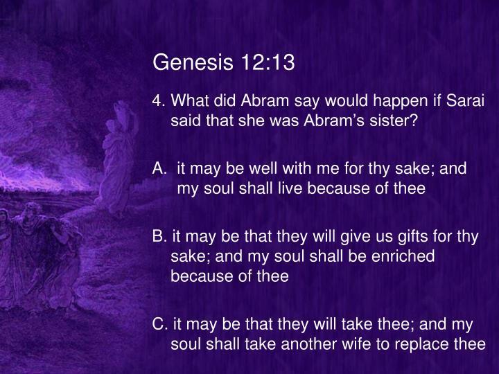 Genesis 12:13
