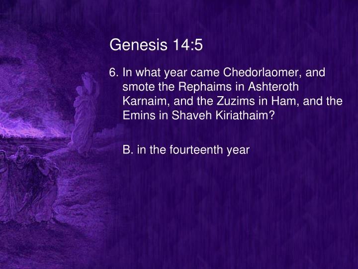 Genesis 14:5