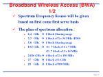 broadband wireless access bwa 1 2