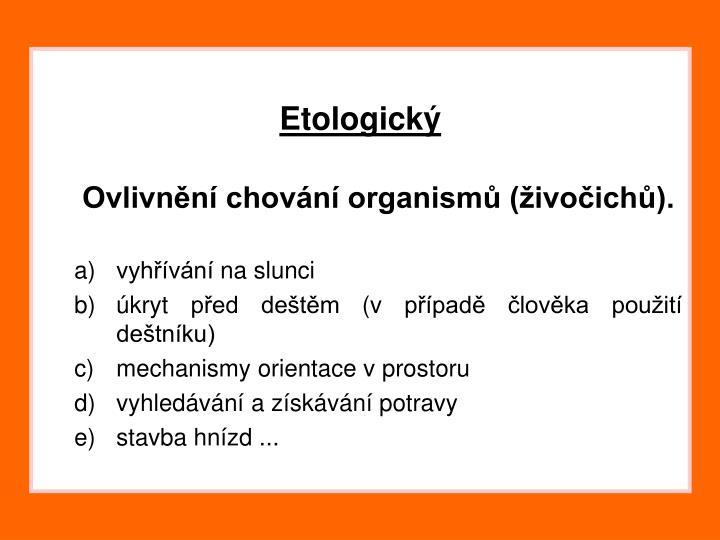 Etologický