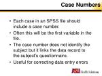 case numbers