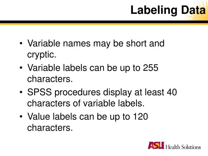 Labeling Data