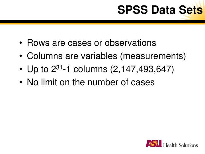 SPSS Data Sets