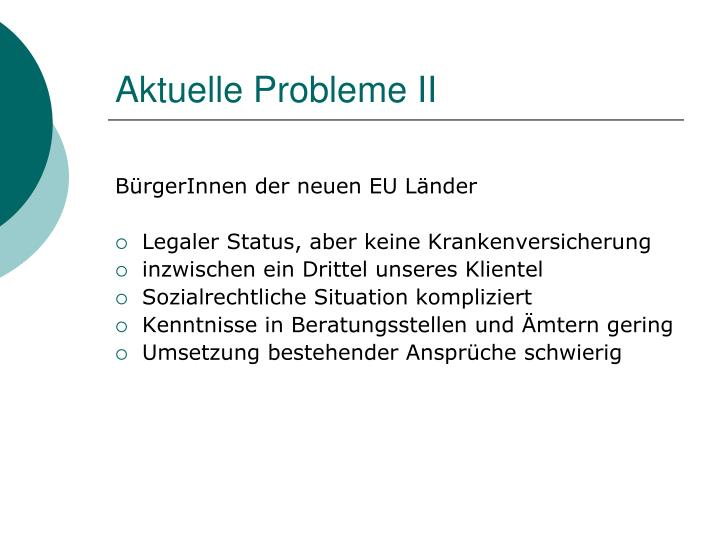 Aktuelle Probleme II
