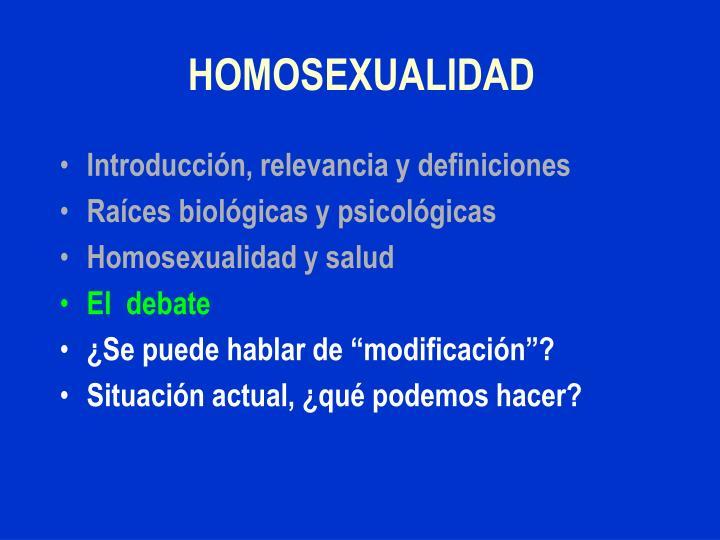 HOMOSEXUALIDAD