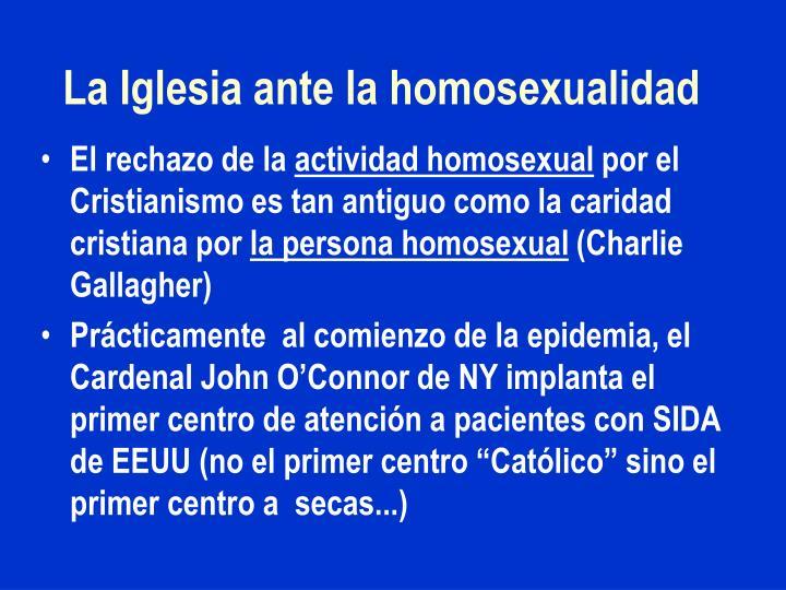 La Iglesia ante la homosexualidad