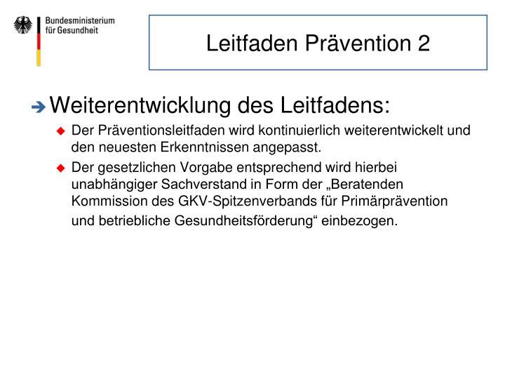 Leitfaden Prävention 2