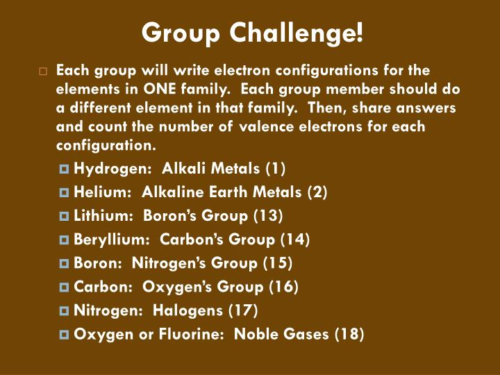 Group Challenge!