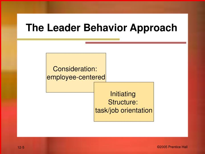 The Leader Behavior Approach