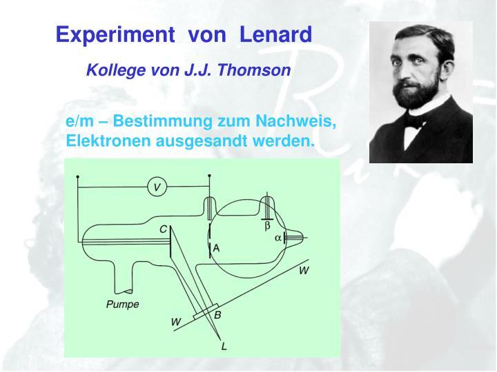 Experiment  von  Lenard