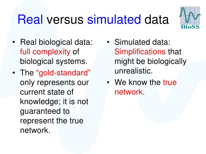 Real biological data:
