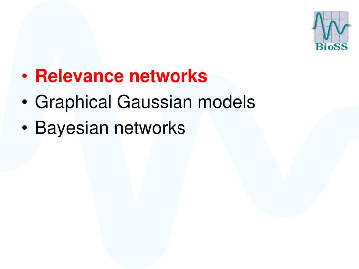 Relevance networks