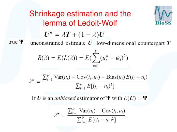 Shrinkage estimation and the lemma of Ledoit-Wolf