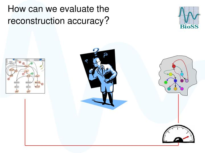 How can we evaluate the reconstruction accuracy