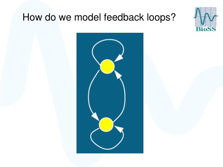 How do we model feedback loops?