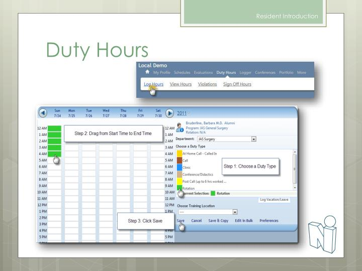 Duty Hours