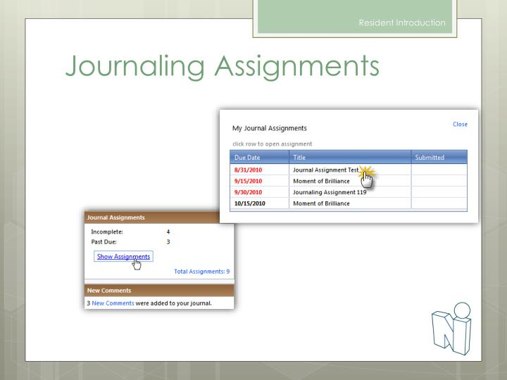 Journaling Assignments