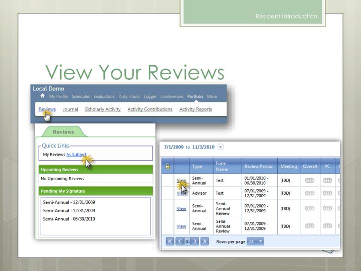 View Your Reviews