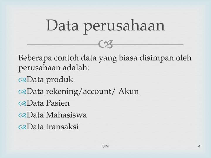 Data perusahaan