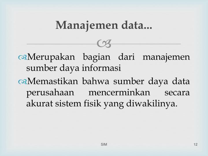Manajemen data...