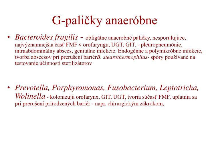 G-paličky anaeróbne