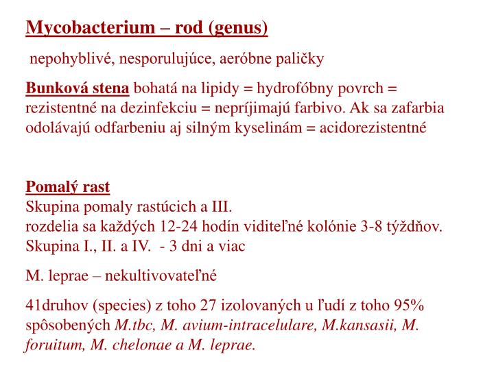 Mycobacterium – rod (genus)