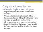 congress will consider new radwaste legislation this year
