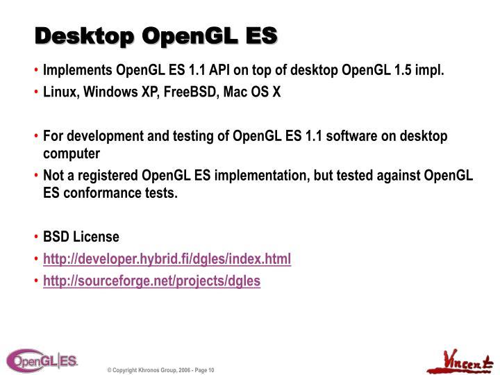 Desktop OpenGL ES