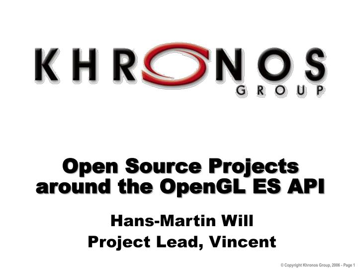 open source projects around the opengl es api