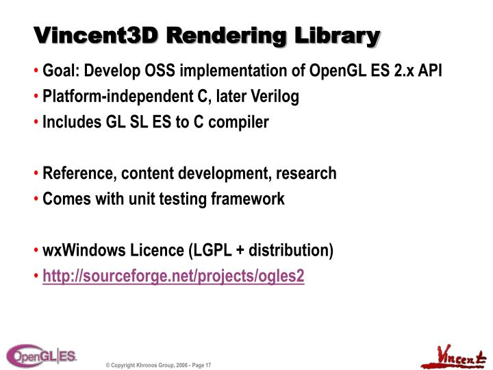 Vincent3D Rendering Library