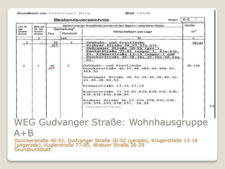 WEG Gudvanger Straße: Wohnhausgruppe A+B