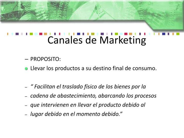 Canales de Marketing
