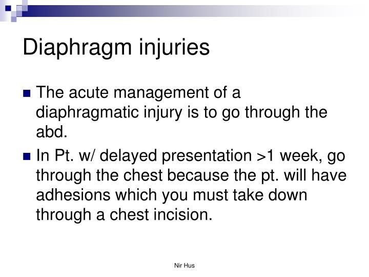 Diaphragm injuries