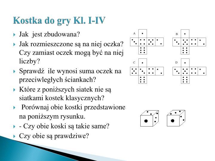 Kostka do gry Kl. I-IV