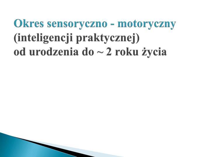 Okres sensoryczno - motoryczny
