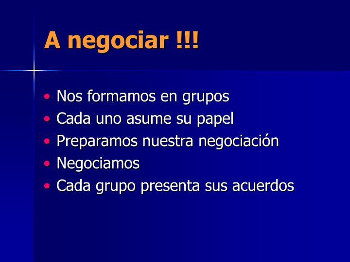 A negociar !!!