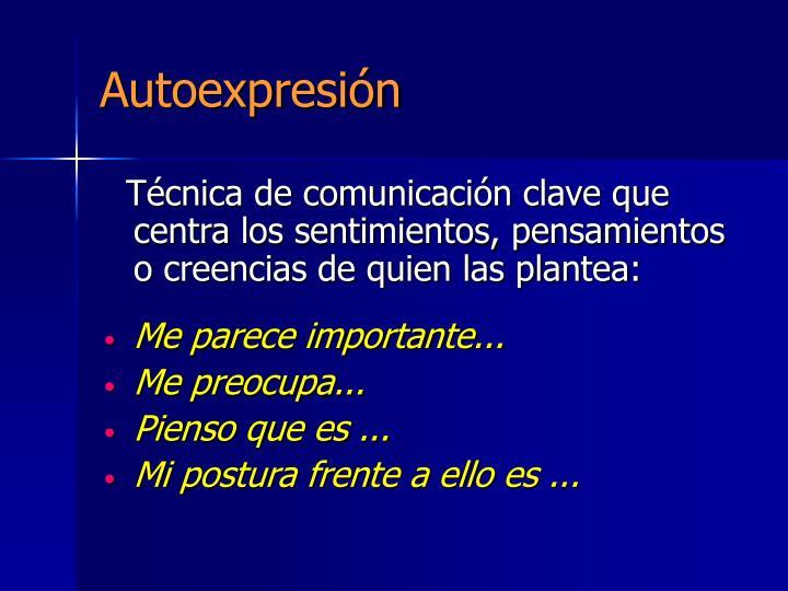 Autoexpresión