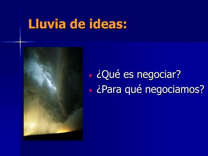 Lluvia de ideas: