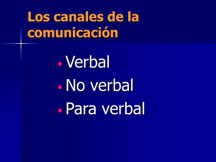 Los canales de la comunicación