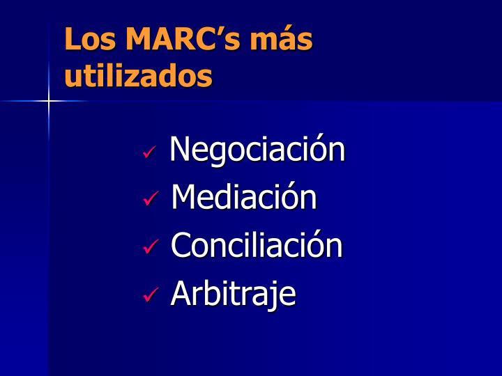 Los MARC's más utilizados