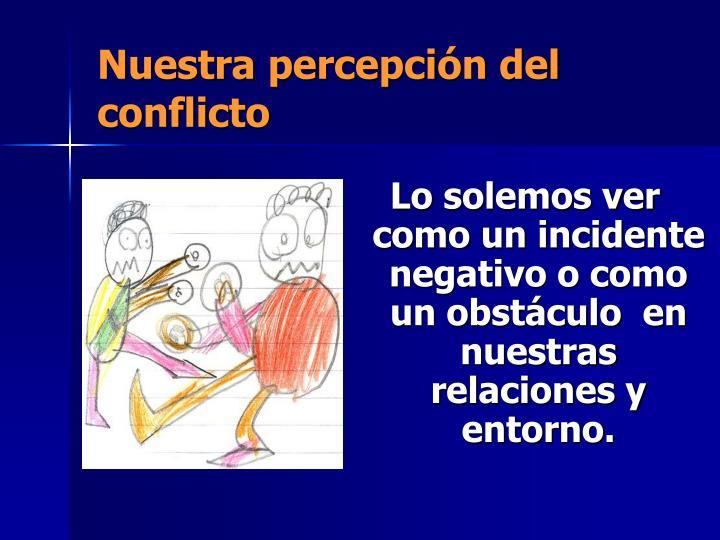 Nuestra percepción del conflicto