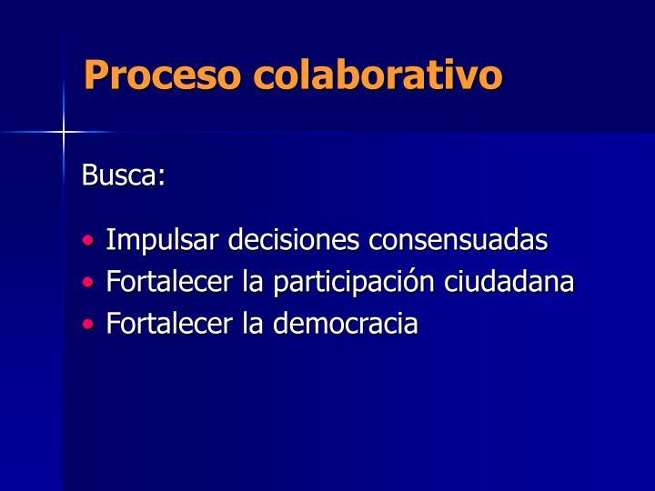 Proceso colaborativo
