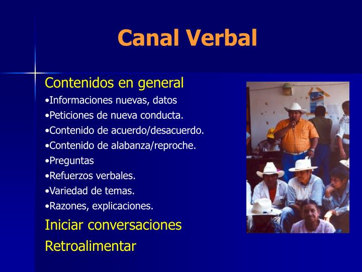 Canal Verbal