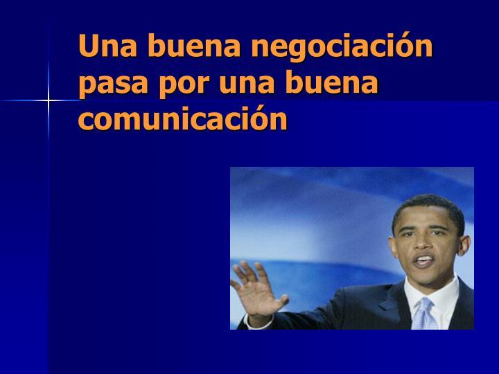Una buena negociación pasa por una buena comunicación