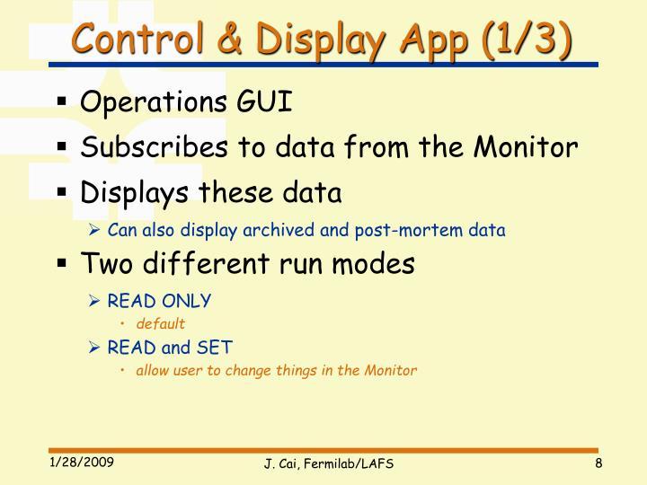 Control & Display App (1/3)